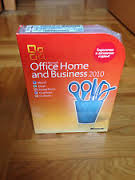 Microsoft Office 2010 Home and Business Box DVD```````
